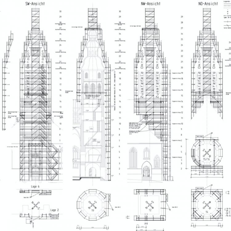 Gerüst-Bauplan
