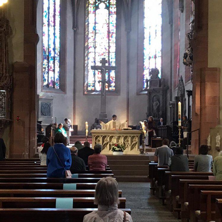 Erster öffentlicher Gottesdienst nach Corona in der Stiftskirche