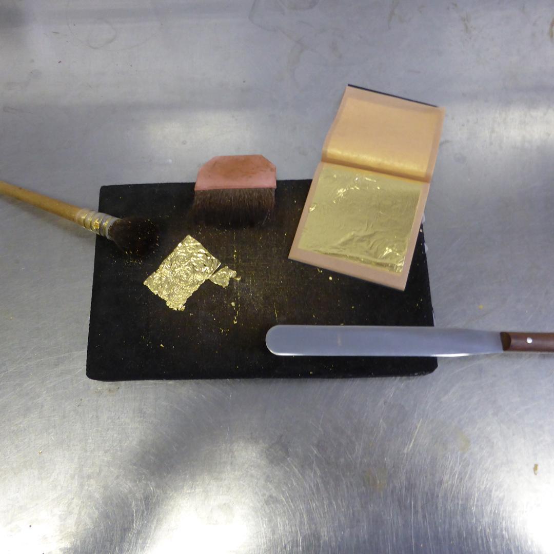 Das Werkzeug der Restauratorin Ariane Brückel