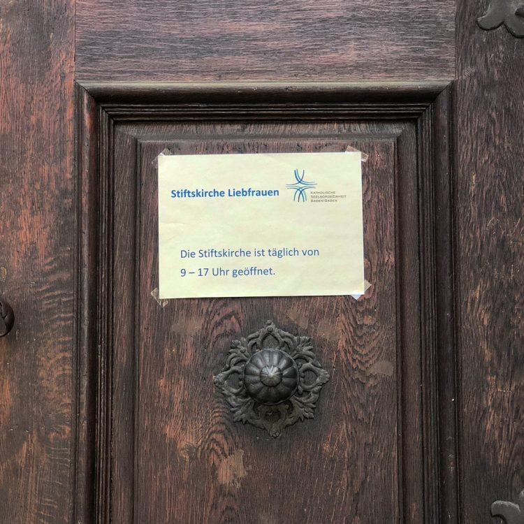 Die Kirche hat wieder regulär geöffnet