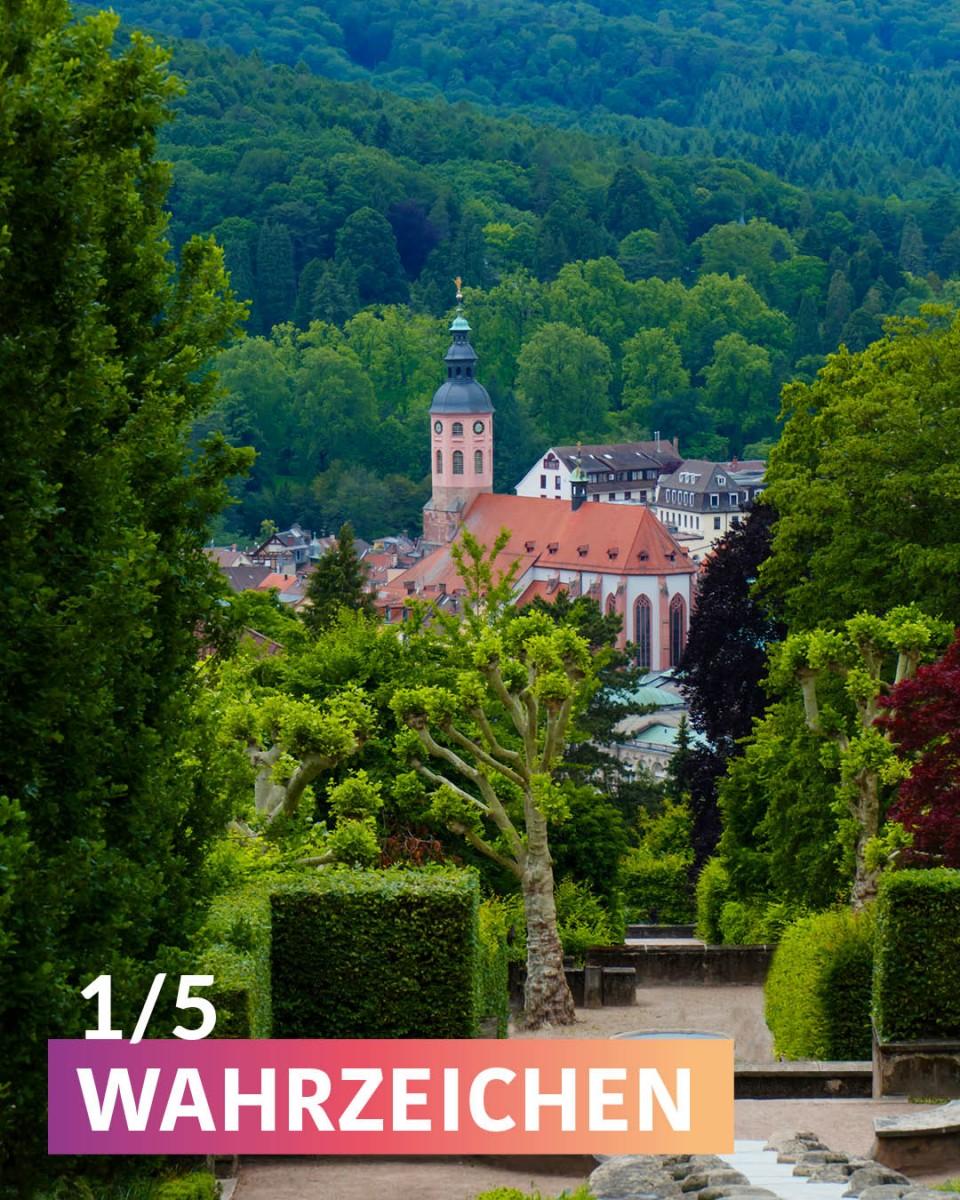 """Die Stiftskirche ist ein """"WAHRZEICHEN"""" von Baden-Baden."""