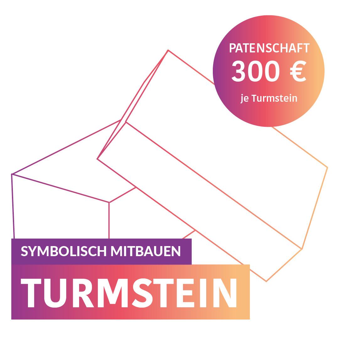 Symbolisch Mitbauen - Turmstein - Eine Patenschaft kostet 300,-€ pro Stein