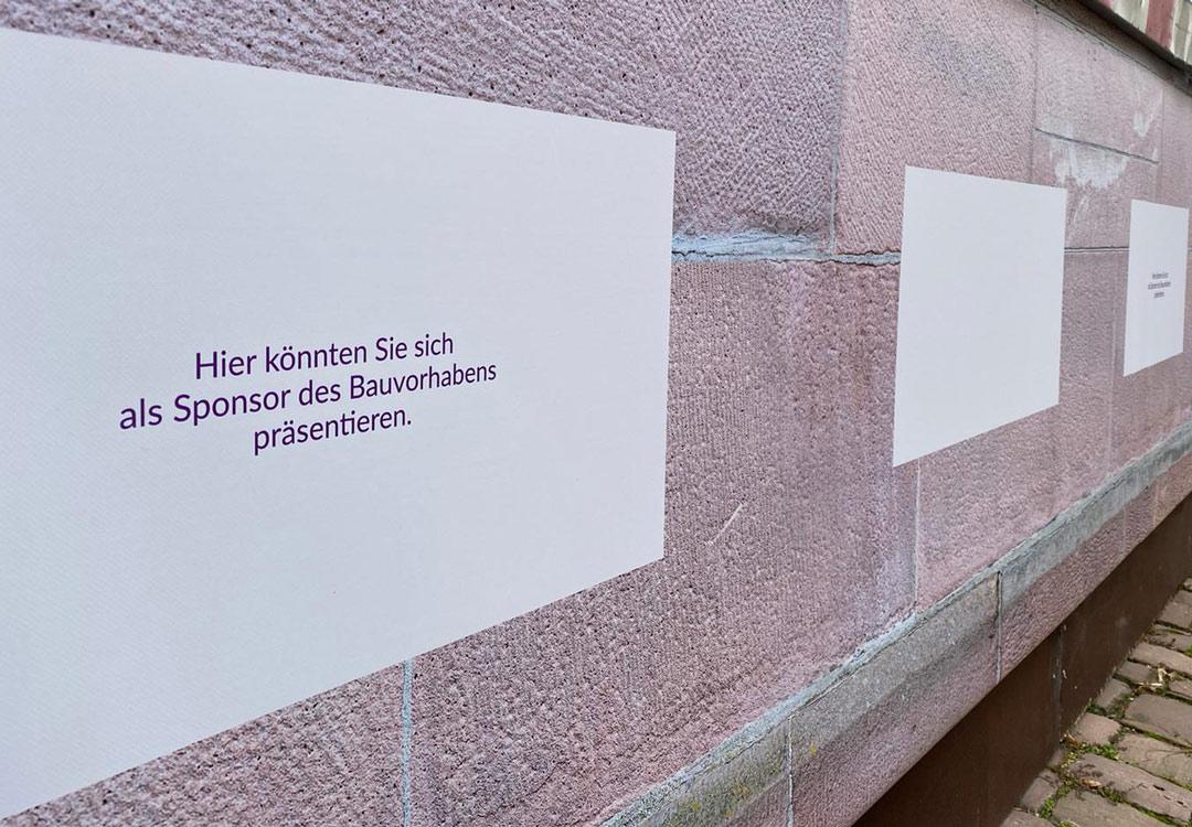 Der Bauzaun: Sponsoring-Angebot an Unternehmen der Region